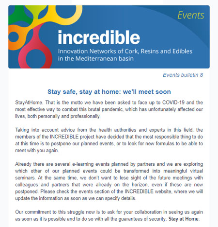 INCREDIBLE Project events bulletin 8
