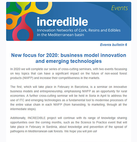 INCREDIBLE Project events bulletin 6