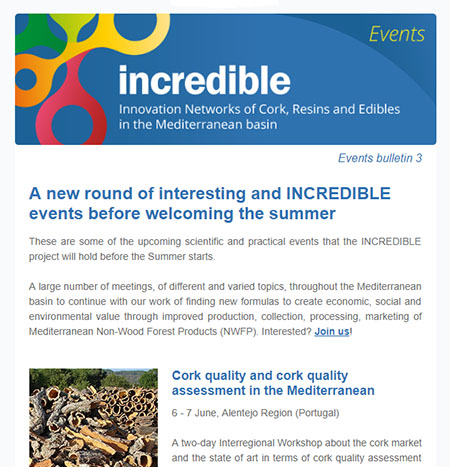 INCREDIBLE Project events bulletin 3