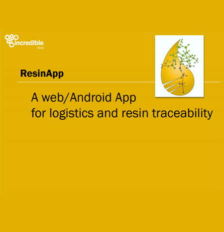 Development of a web/Android app for resin traceability